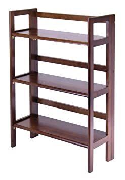 Winsome Wood Stackable/Folding Shelf, 3-Tier 94896