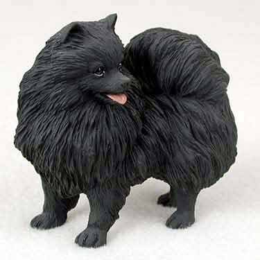 Conversation Concepts Pomeranian Dog Figurine - Black