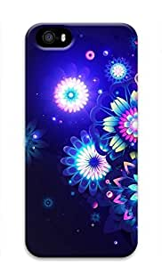 3D Hard Plastic Case for iPhone 5 5S 5G,Neon Flower Case Back Cover for iPhone 5 5S
