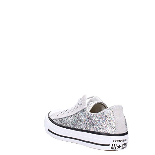 CONVERSE Chuck Taylor All Star Ox Lace Fabric MOUSE 552735C SILVER glitter oda8jGa