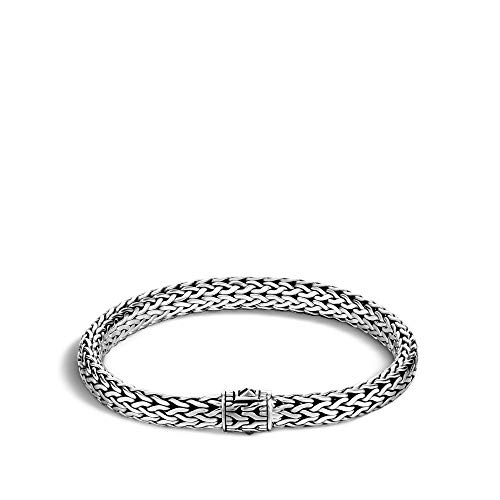 John Hardy Women's Classic Chain 6.5mm Silver Small Bracelet Large ()