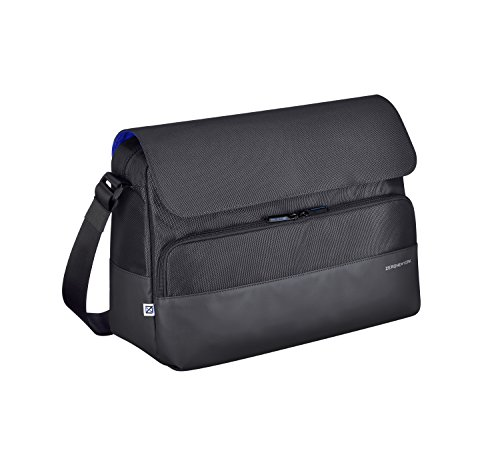 (Zero Halliburton Gramercy-Large Shoulder Bag, Black, One Size)
