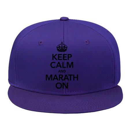 Cool Keep Calm And Marathon Cotton Snapback Cap Hat Male/female Hip Hop Cap Kelvigibbs