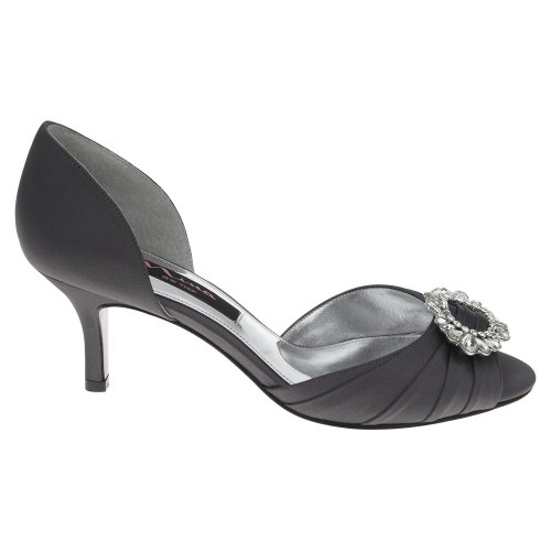 Luster Satin Dress Pump Steel Nina Crystah Women's wZ4qnZSv
