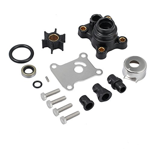 CAMWAY Impeller Water Pump Repair Kit Replaces for 9.9hp & 15hp Johnson/Evinrude 2-Stroke 1974 & Later, 4-Stroke 1995 & Later