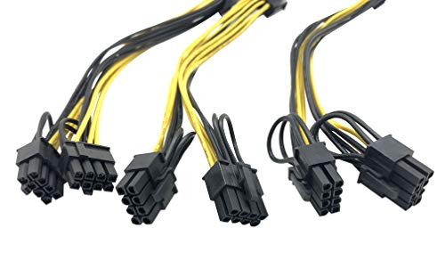 8 Pin to 2 x PCIe 8 (6+2) pin Graphics Card PCI-e Express VGA Splitter Power Extension Cable (3 Pack) by Block Erupter (Image #2)