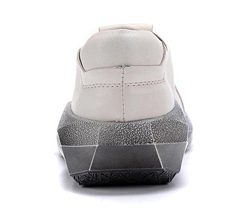 Estate Britannico Tempo singolo XIE Pelle 44 Caviglia Vero Uomini libero 44 Allacciare Primavera Nero All'aperto Piatto Scarpe bianca WHITE Stile Rvx7X1