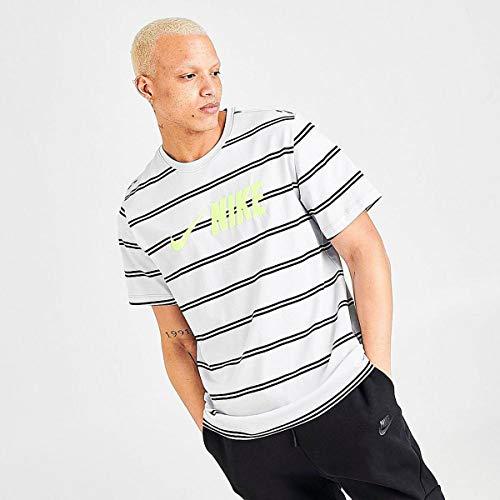 Nike Men's Sportswear Air Max 90 Short Sleeve T-Shirts CW4686-077 Light Smoke Grey/Black 3