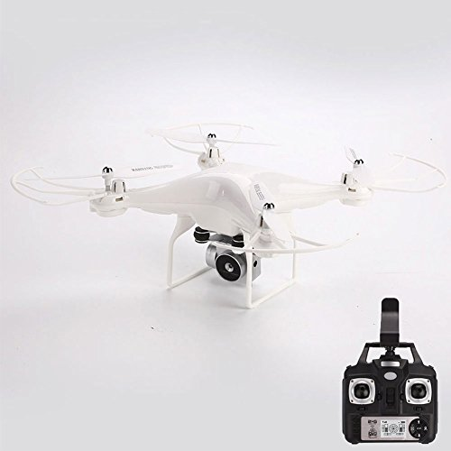 Haihiuc FPV Drone con Cámara en 5MP 1080P HD WiFi Video en Vivo Altitude Hold One Key Return 2.4GHz RC 6 Axis Gyro RTF Quadcopter para Niños y Adultos (Blanco)