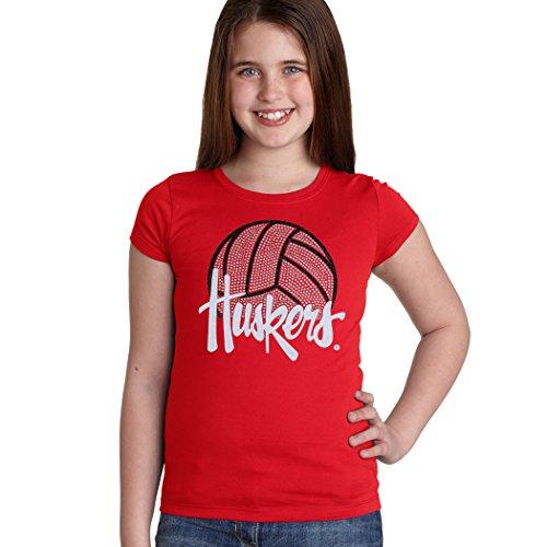 CornBorn Nebraska Youth Girls Tee Shirt - Huskers Volleyball
