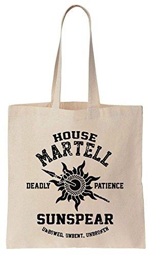 House Martell Highschool Style Logo Sacchetto di cotone tela di canapa