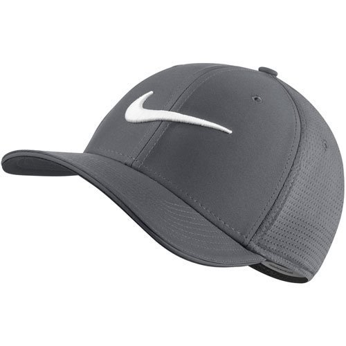 (NIKE Unisex Classic 99 Mesh Golf Cap, Dark Grey/Dark Grey/Anthracite/White, Small/Medium)