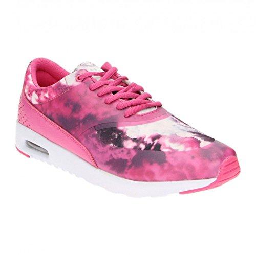 Damenschuhe Print Damen Fitters in Muster Ella Sneaker Übergröße Pink xtFAZYwqUA