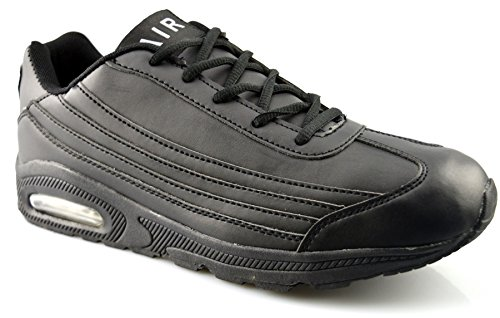 Air Tech Mens Synthetic Leather Running Shoes 8 Black EeSiiXH