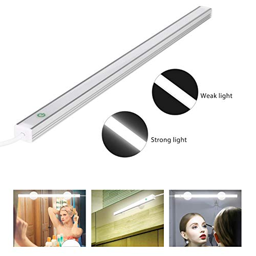 LED Vanity Mirror Light Kits, Jayol Touch Control Makeup Mirror Light, Adjustable 6000K Brightness, 360° Rotation Portable Vanity Light for Makeup/Room (No Battery Need) by Jayol