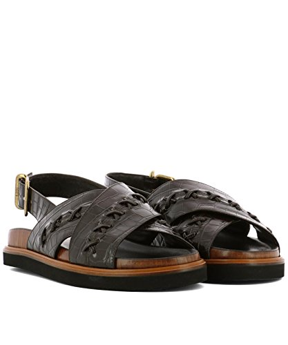 XXW01B0Y730JSTS808 Women's Sandals Leather Tod's Black Brown SFAaAn87W