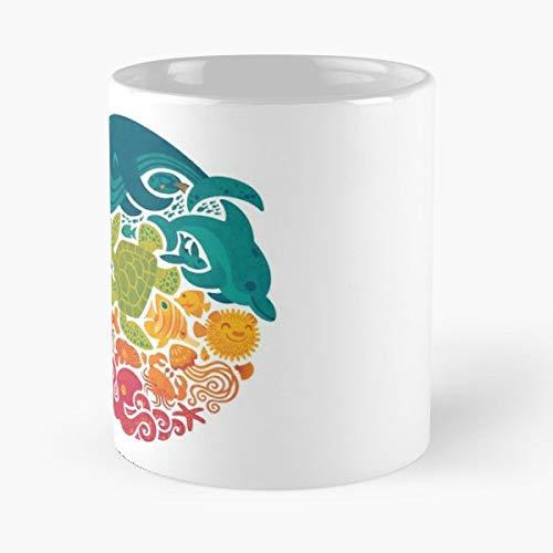Sea Ocean Creatures - Ceramic Mugs