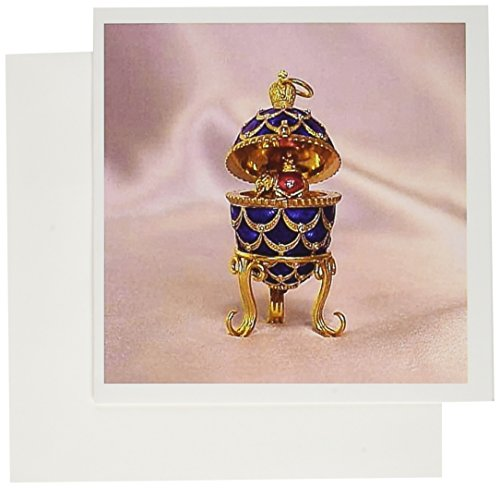 [3dRose Picturing Pinecone Faberge Egg - Greeting Cards, 6 x 6 inches, set of 6 (gc_3148_1)] (Rose Faberge Egg)