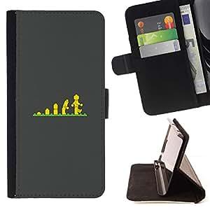 Momo Phone Case / Flip Funda de Cuero Case Cover - Cartel Evolución Escaleras hijos de - LG G2 D800