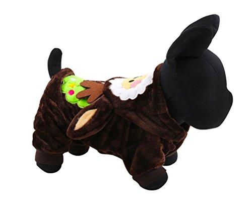 Hii-Yo Pet Dog Coat Soft Warm Pet Apparel Cute Cartoon Pattern Holiday (Storm Costume Australia)