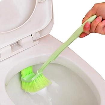 Toilet Brush Plastic Portable Long Handle Bathroom Toilet Bowl Scrub Double Sided