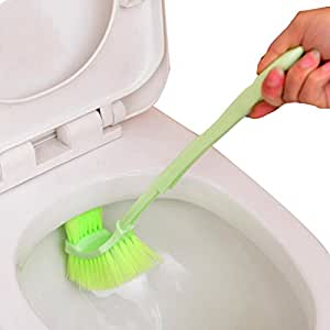 toilet brush plastic portable long handle. Black Bedroom Furniture Sets. Home Design Ideas