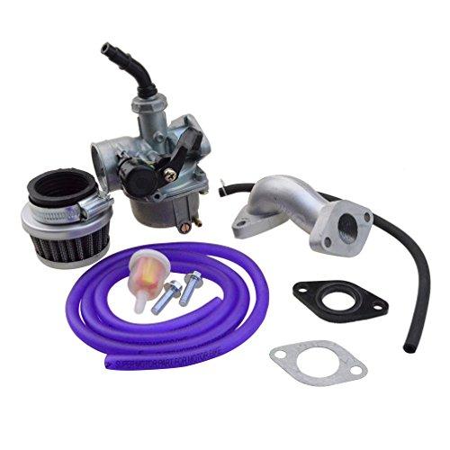 (GOOFIT PZ19 Carburetor with Air Filter Carburetor Rebuild Kit for Honda XR/CRF 50cc 70cc 90cc 110cc 125cc Moped ATV POLARIS Taotao Sunl Roketa Baja Kazuma Purple)