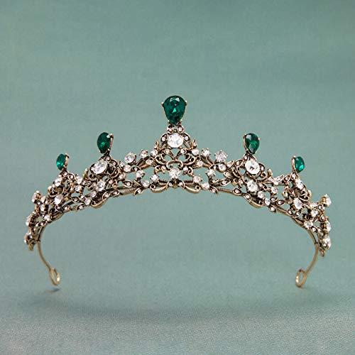 SWEETV Vintage Baroque Wedding Tiara for Brides - Princess Tiara Headband Prom Queen Crown Bridal Hair Accessories for Women ()