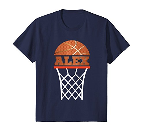 Kids Basketball Apparel | Custom Name Alex Youth Graphic T Shirt 10 (Custom Youth Anvil)
