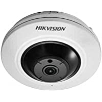 Hikvision 4MP Poe CMOS ICR Compact Fisheye Panorama Network IP Camera DS-2CD2942F-IS 1.6mm Day Night Onvif Security Surveillance English Version(H.264/MJPEG)