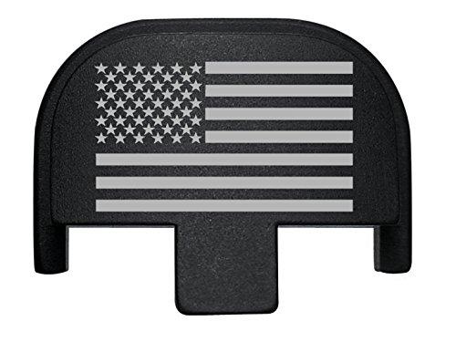 NDZ Performance Rear Slide Cover Back Plate for Smith & Wesson Self Defense S&W SD9 SD40 VE 9mm .40 Black Custom Laser Engraved Image: US Flag