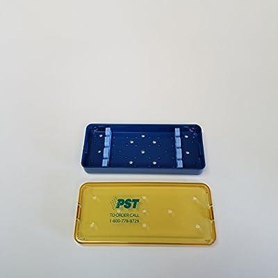 PST Sterilization Tray 2503A Base, Lid & (2) 2513S 2.5 X 6.0 X 0.75