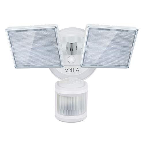 SOLLA LED-beveiligingslicht, 3000lm, 34W outdoor bewegingssensor licht, 5000K daglicht wit, waterdichte IP65…