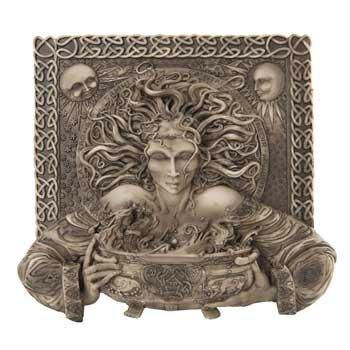 Plaque Goddess (CERRIDWEN CELTIC GODDESS KNOWLEDGE PLAQUE HOME DECOR)