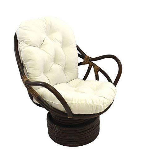 Enjoyable International Caravan 3310 Tw Egg Ic Furniture Piece Swivel Rocker With Twill Cushion Machost Co Dining Chair Design Ideas Machostcouk