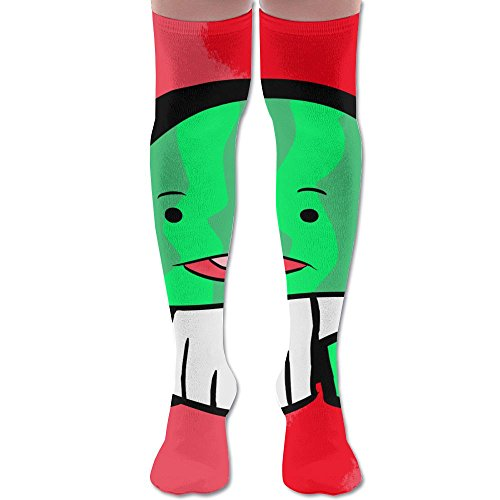 Japanese Thongs Watermelon Polyester Cotton Over Knee Leg High Socks Humor Unisex Thigh Stockings Cosplay Boot Long Tube Socks For Sports Gym Yoga Hiking Cycling Running Travel ()