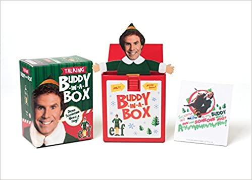 elf talking buddy in a box does somebody need a hug miniature editions