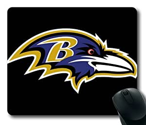 NFL Baltimore Ravens on Black Rectangle Mouse Pad by eeMuse