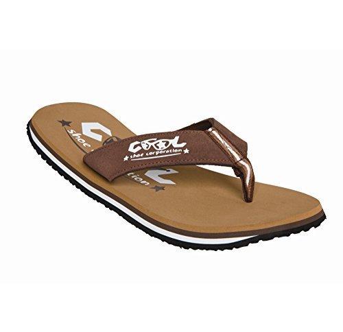 Cool Shoes chanclas ligeras estilo hawaianas, color marrón tabaco