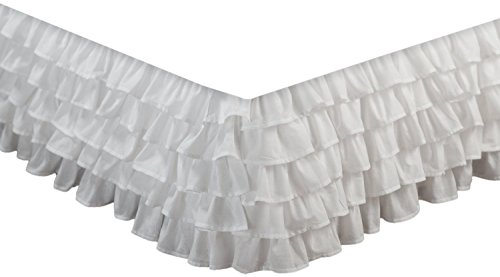 Empire Home Fashion Pure White Multi-Ruffle Bed Skirt, ALL SIZES (King Size) (Bed Ruffled Skirts)