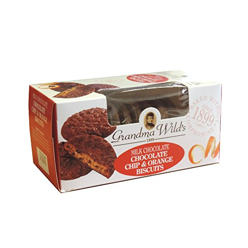 Milk Chocolate Coated Chocolate Chip & Orange Cookies (150 gram)