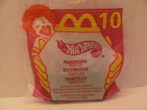 Mattel HOT WHEELS - McDONALD'S Happy Meal TOY CAR - MAXIMIZER - Bag #10 - 1999 / China (Comes in Original UNOPENED Bag) / *For Children Age 3 and Over / May Contain Small Parts* by Hot Wheels