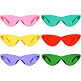 824303fc74a9 Colorful One Piece Rimless Transparent Cat Eye Sunglasses for Women Tinted  Candy Color Eyewear (6