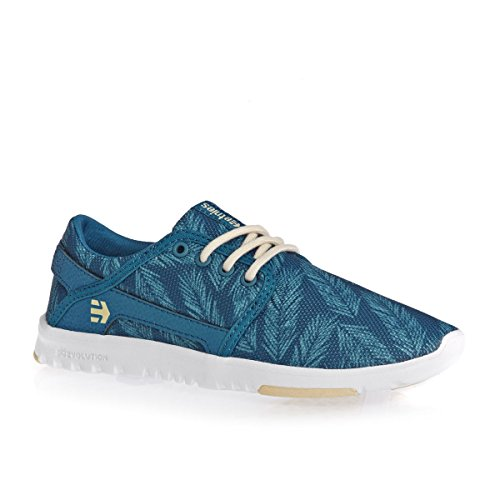 Etnies Women Skateboarding Shoes Blue/Green RvBNJzX6