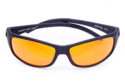 Blue Blocking Amber Glasses for Sleep - BioRhythm Safe(TM) - Nighttime Eyewear - Special Orange Tinted Glasses Help You Sleep and Relax Your Eyes