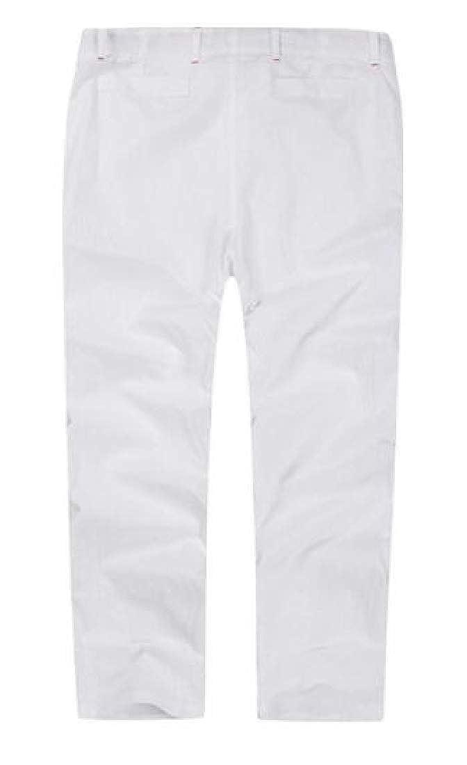 Joe Wenko Mens Trousers Ankle Plus Size Pure Color Casual Drawstring Pants