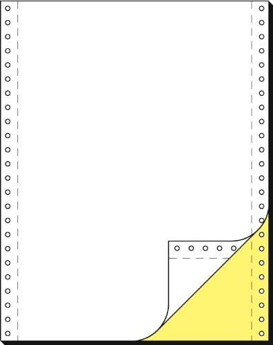 SIGEL 33242 Endlospapier 12 Zoll x 240 mm (A4 hoch), 60/57 g, 1000 Sätze LP, Kopie gelb+AHL, SD, 2fach