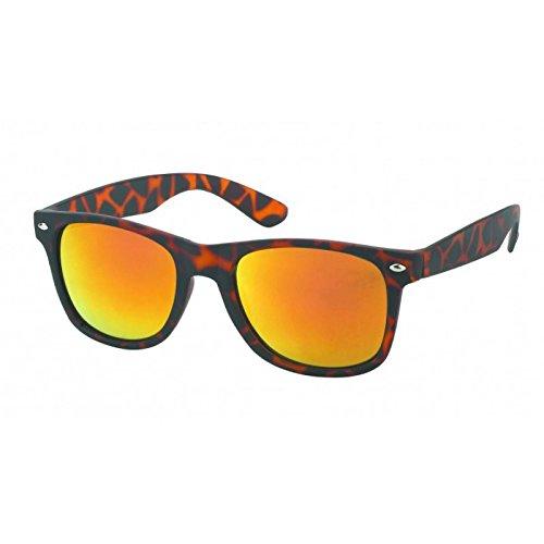 de Orange orange miroir animal nbsp;UV de effet Lunettes 400 imprimé soleil Chic nerd Wayfarer Net Lunettes ZqSnUzng