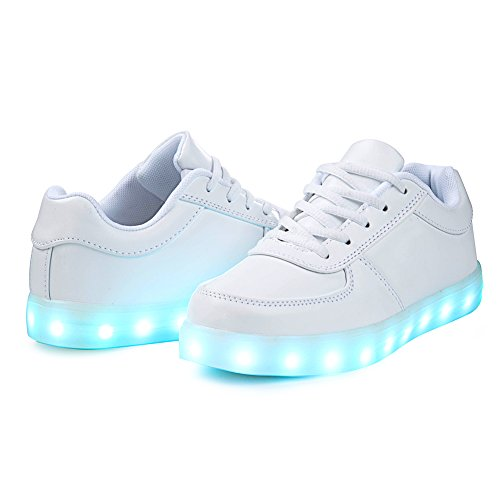 4 Led For Halloween Sneakers Sport Saguaro Christmas Shoes Valentine's white Day 8 Men's Usb Couple Women's Colors Light up Charging qwEOxFUT
