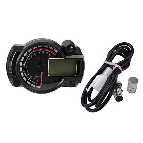 Lynn025Keats 7 color display Motorcycle Digital Speedometer Gauge Speedometer Tachometer: